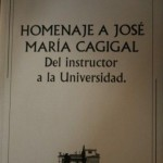 Homenaje a José María Cagigal